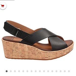Clarks Stasha Hale Wedge Sandals